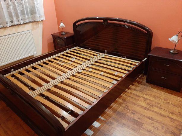 Sprzedam łóżko 2 osobowe z materacami i szafkami nocnymi