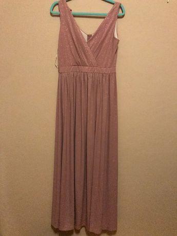 Sukienka kolor brudny/pudrowy róż