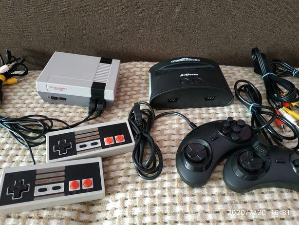 Приставка NES mini 620 и sega mega drive classic