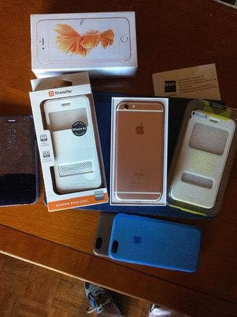 Iphone 6s 32GB Rose Gold, desbloqueado, com fatura