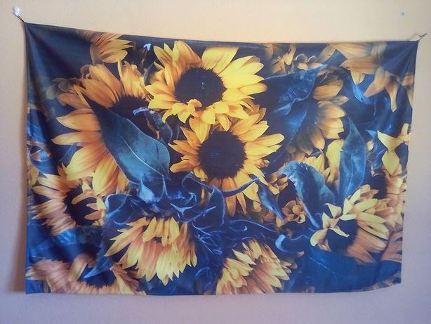 Estampa floral de parede