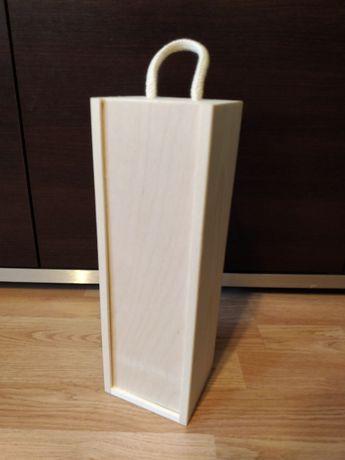 Drewniane pudełko ozdobne/skrzynka drewniana na butelkę np. wina