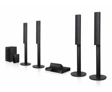 Sistema de Som 5.1 com 1000W, Leitor Blu-Ray 3D / 2D, LG