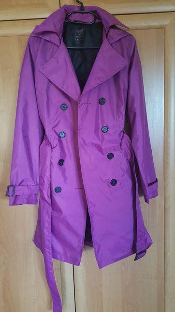 Praktyczny modny płaszcz elegancka kurtka przeciwdeszczowa płaszczyk L