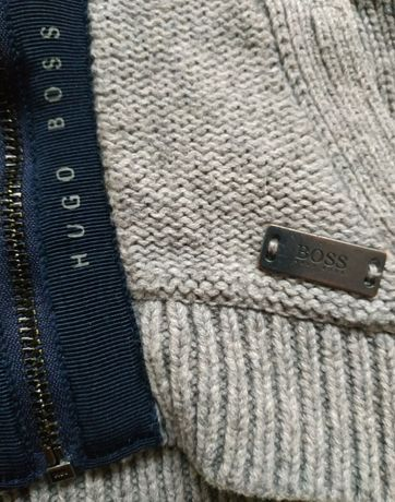 Кофта Hugo Boss до 6-8 месяцев 100% оригинал свитер теплый Zara Armani