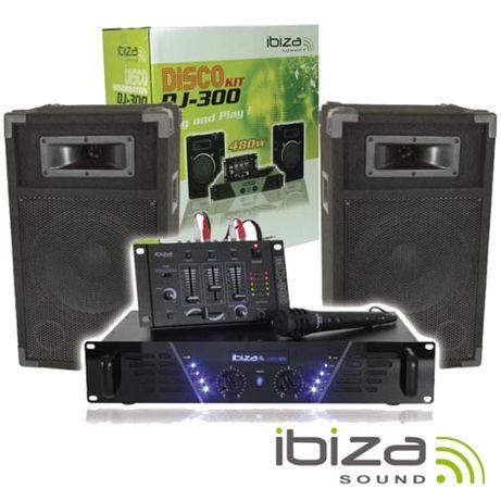 PACK Mesa de Mistura/Amplificador/2 Colunas 10″ 250W IBIZA
