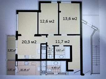 Квартира 2-х кімнатна 68 кв.м. в STRIM TOWERS вул. Очеретяна 31