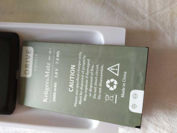 Bateria do smartfonu krüger matz km 0414       nowa, tylnia obudowa