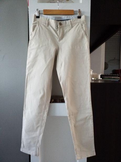 Spodnie ecru, rozm. 34, S, CUBUS