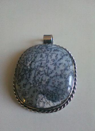 wisiorek srebrny z agatem ,wisior, zawieszka