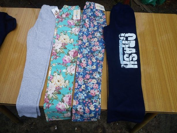 Ubrania, spodnie dresowe, legginsy, 146, bawełna 100%