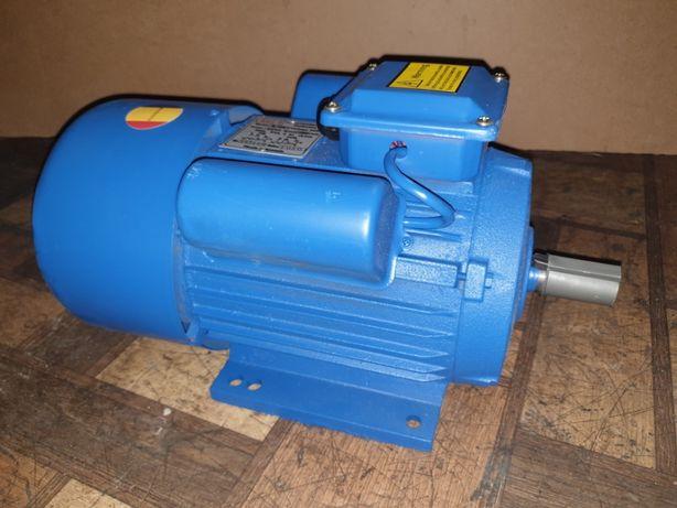 Электродвигатель однофазный 220В 3 кВт 1500 об/мин Румыния двигатель