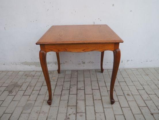 Stylowy kwadratowy stół ludwikowski 80 cm 221