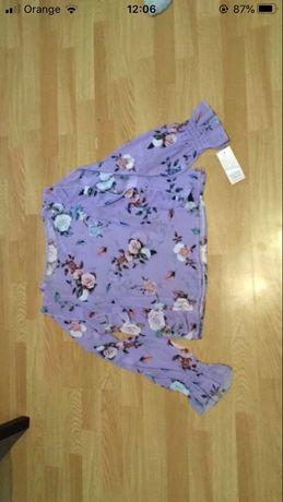 Elegancka bluzeczka kwiatki