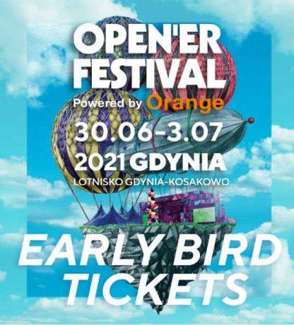 Bilety na Open'er Festival 2021 +  trzyosobowy pokój w hotelu!