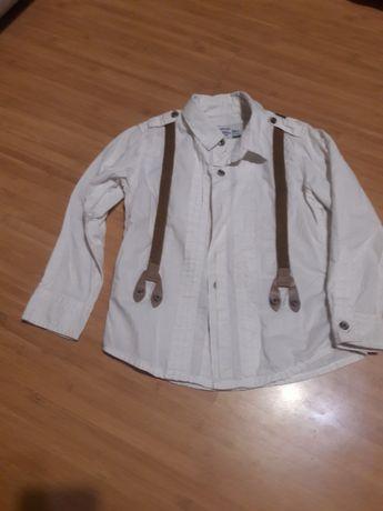 белая рубашка/ рубашка с подтяжками Reserved