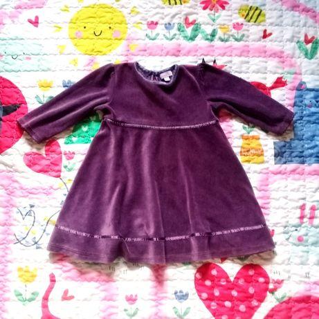 Велюровое платье осень Monsoon 18-24