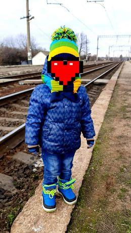 Теплая демисезонная куртка Adidas
