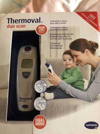 Termometro clinico auricular e testa com caixa . Hartmann