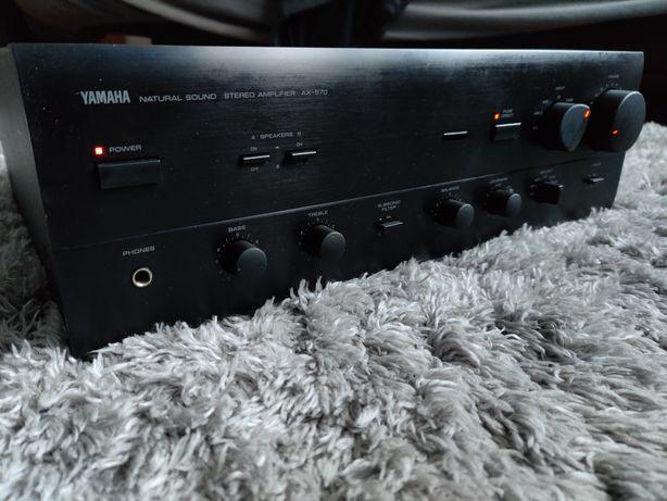 YAMAHA AX 570 wzmacniacz(końcówka mocy preamp analog bas odtwarzacz cd