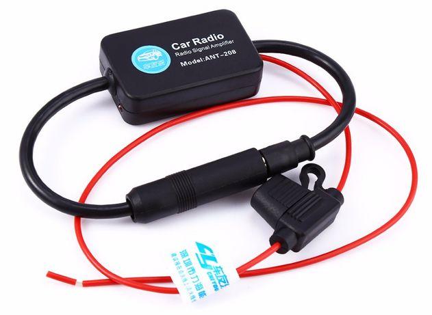 Wzmacniacz anteny samochodowej 12V FM AM zasilacz