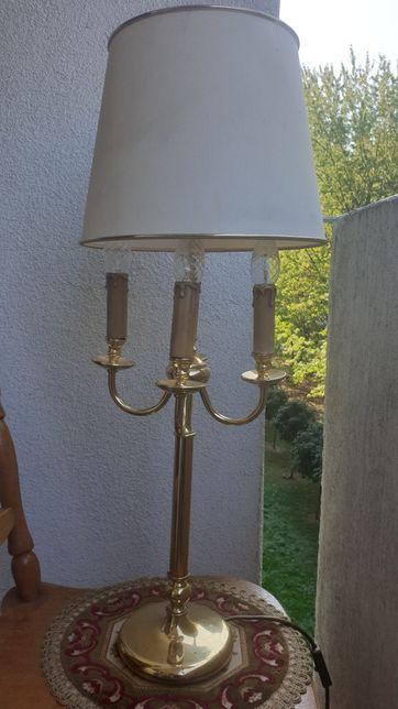 Lampa mosiężna na 4 żarówki
