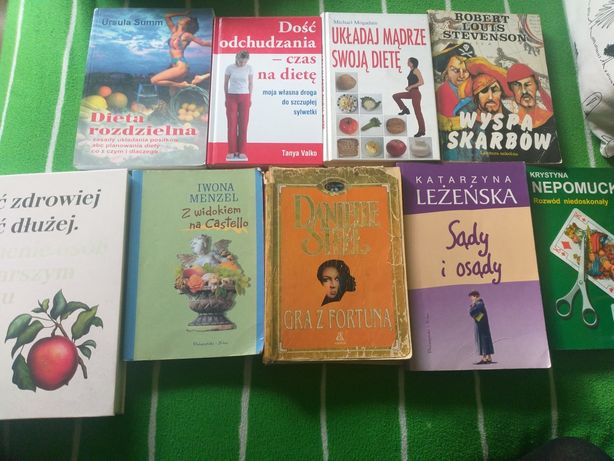 Różne książki o dietach, obyczajowe