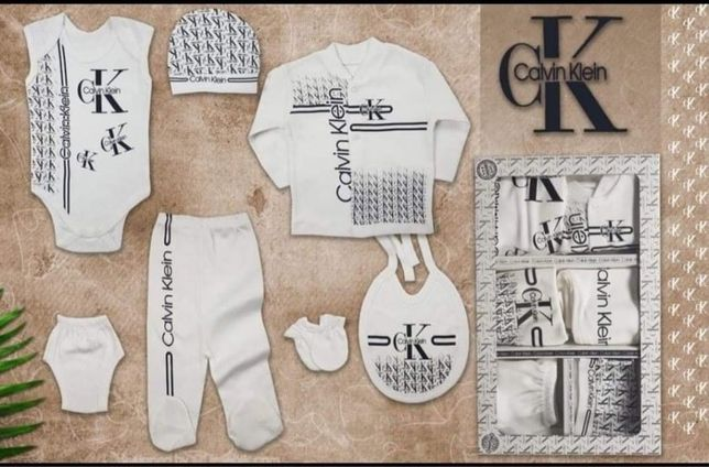 Komplecik niemowlęcy 3-6 miesięcy nike gucci levis ck