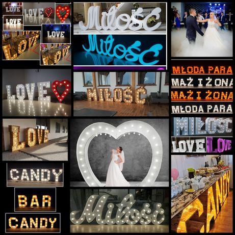 Napis Miłość love serce Ciężki Dym Candy Bar Candy Bar
