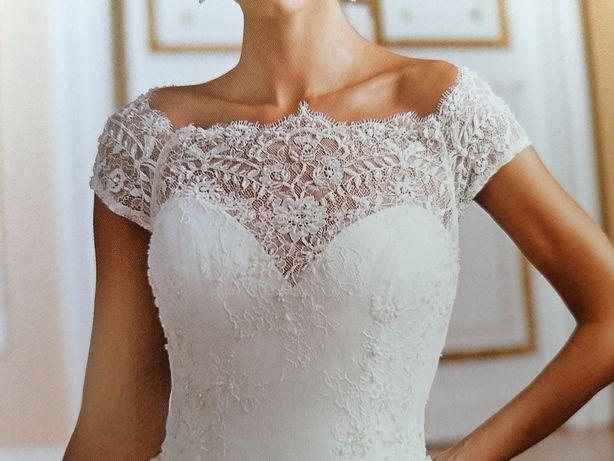 Suknia ślubna ecru roz S