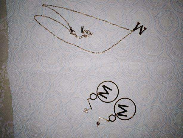 Celebrytka i kolczyki M