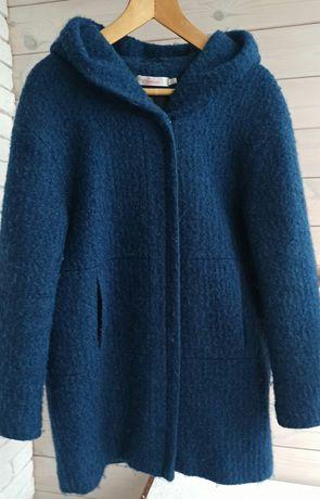 Пальто женское из буклированной шерсти р. 48-50