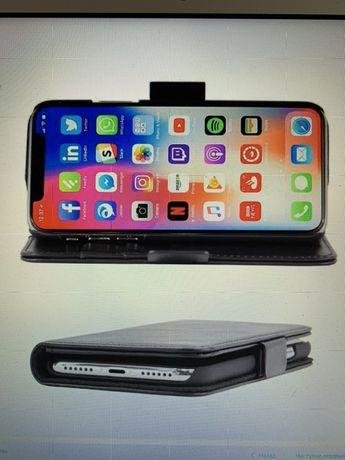 Кожаный чехол-кошелек для iPhone X / iPhone XS