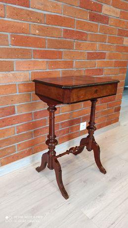 Przepiękny stolik niciak eklektyczny orzech