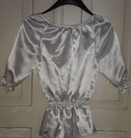 Белая атласная блуза