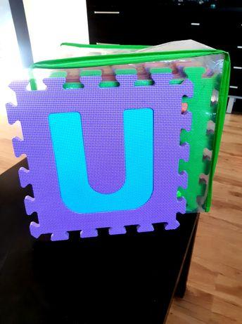Mata puzzlowa 16 elementów , literki