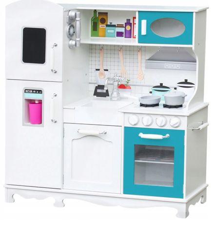 Duża drewniana kuchnia dla dziecie XXL + GRATIS ŁADOWARKA NA 4 USB