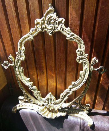 Зеркало бронза настольное рамка антиквариат узоры