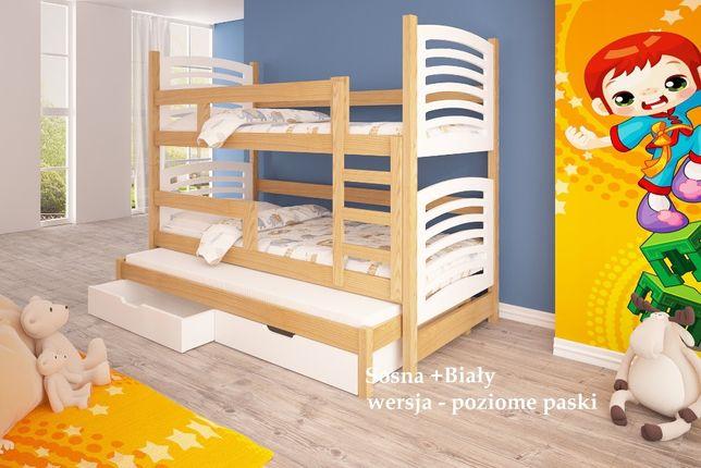 Nowoczesne łóżko dla dzieci OLI 3-osobowe. MATERACE + DOSTAWA GRATIS