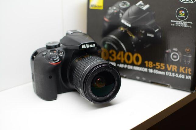 Nikon D3400 коробка и чек, Идеальное состояние. Никон д3400.