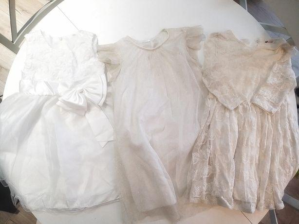 Sukienki 120 do 135 3szt