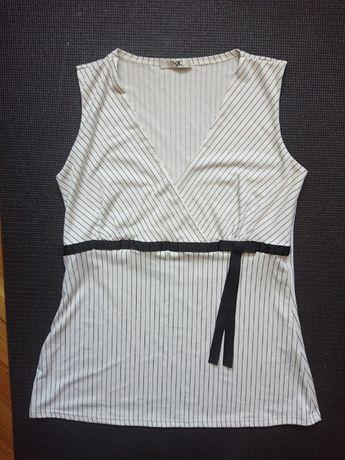 Biała bluzka damska bez rękawów
