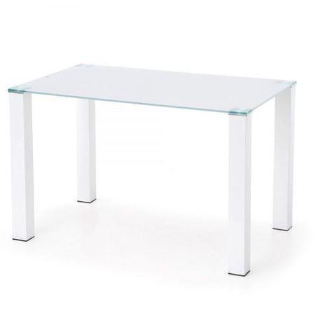 Stół biały szklany