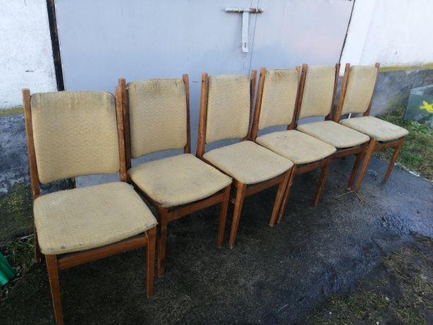 Krzesła PRL 6sztuk