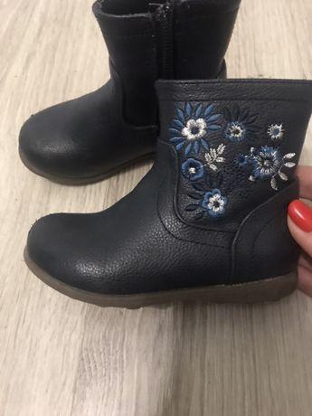 Сапоги зимние ботинки демисезонные кожаные 20-21 размер