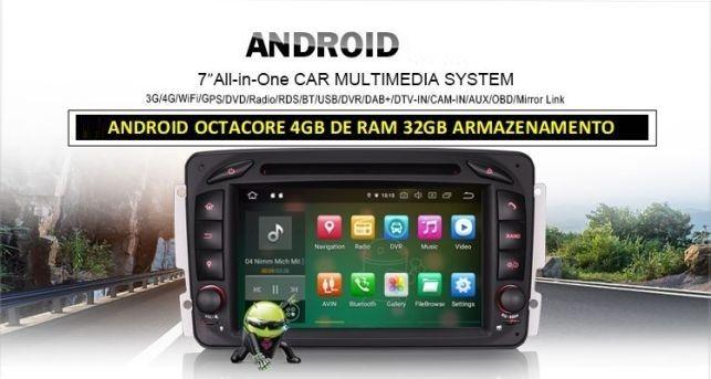 Android 8.1 Autoradio CD GPS Mercedes BENZ C200 W203 CLK W209 Viano Vi