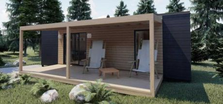 Construção de casas de estrutura de madeira
