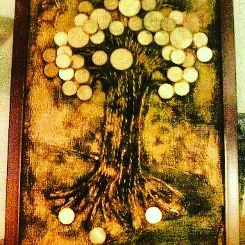 Денежное дерево панно картина