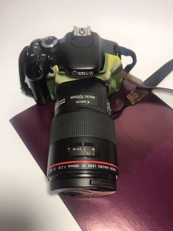 Canon 600d (macro )canon 100 mm usm f/2.8 L go pro 5 обмен продажа