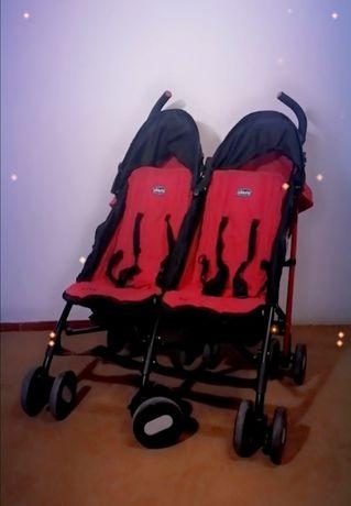 Carrinho de passeio-bebés gémeos(Chico) - 110€